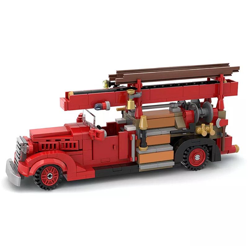 MOC 35195 Vintage Car Ford V8 85 Fire Truck 1937 Technic by SugarBricks MOC FACTORY 2 - MOC FACTORY