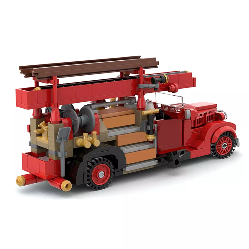 MOC 35195 Vintage Car Ford V8 85 Fire Truck 1937 Technic by SugarBricks MOC FACTORY 4 - MOC FACTORY