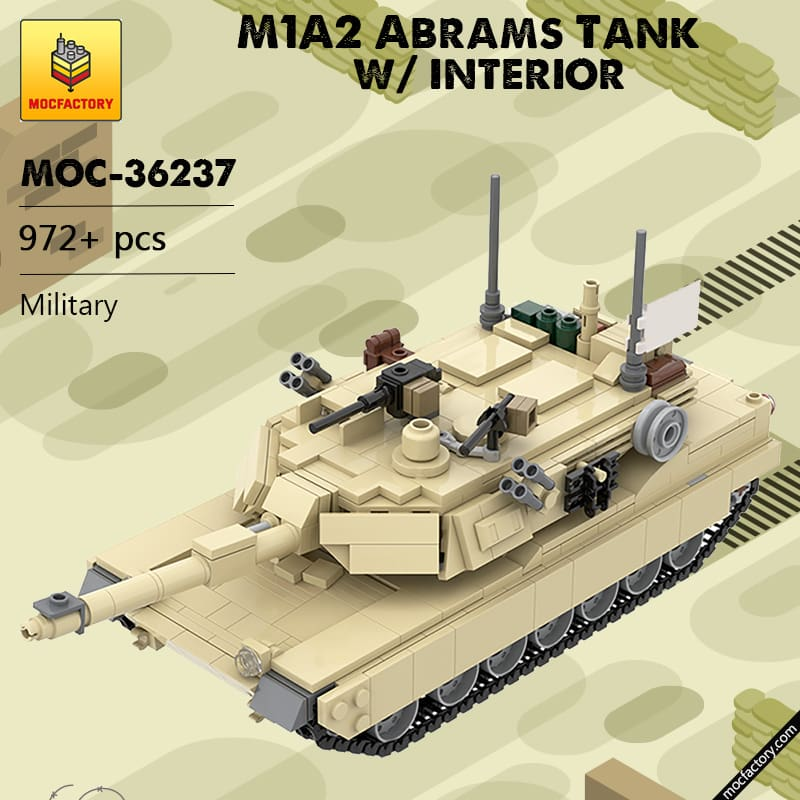 MOC 36237 M1A2 Abrams Tank w interior Military by TOPACES MOC FACTORY 1 - MOC FACTORY