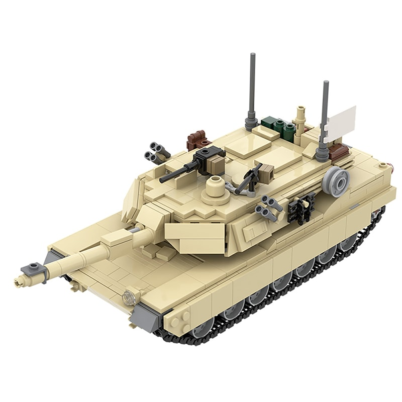 MOC 36237 M1A2 Abrams Tank w interior Military by TOPACES MOC FACTORY 2 - MOC FACTORY