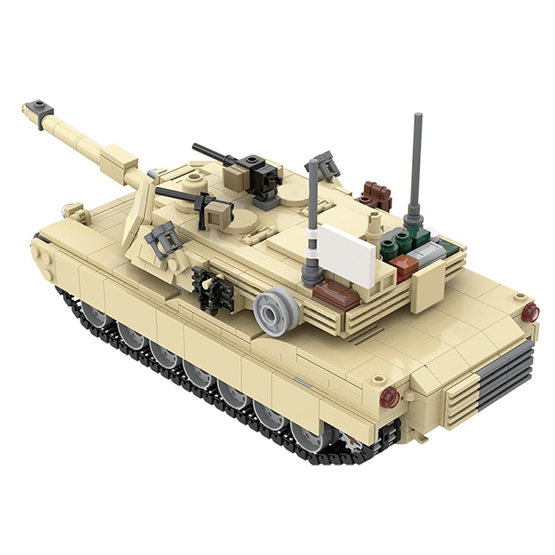 MOC 36237 M1A2 Abrams Tank w interior Military by TOPACES MOC FACTORY 3 - MOC FACTORY