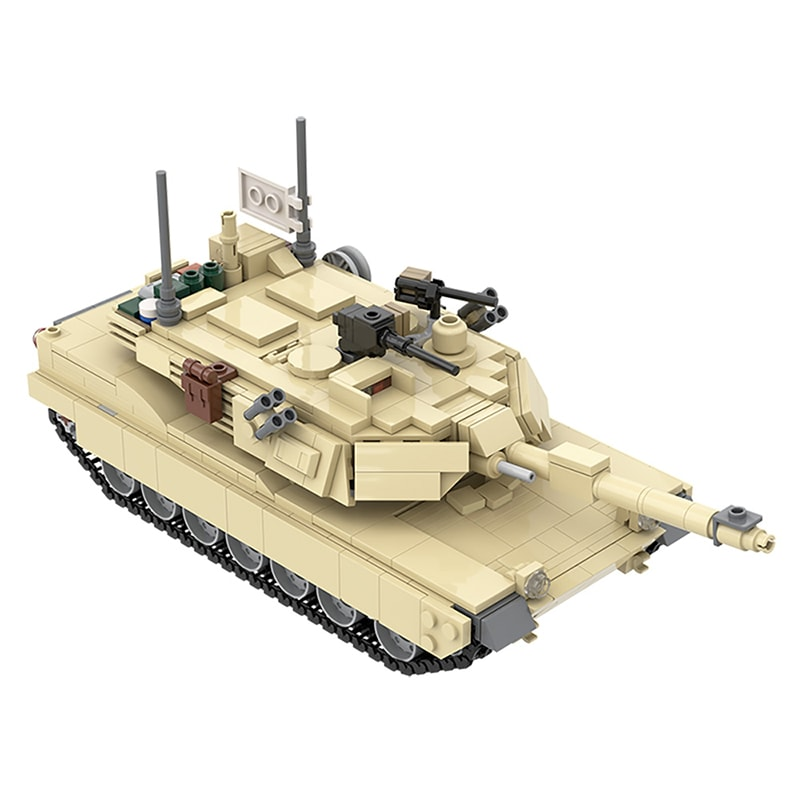 MOC 36237 M1A2 Abrams Tank w interior Military by TOPACES MOC FACTORY 4 - MOC FACTORY
