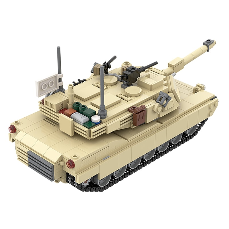 MOC 36237 M1A2 Abrams Tank w interior Military by TOPACES MOC FACTORY 5 - MOC FACTORY