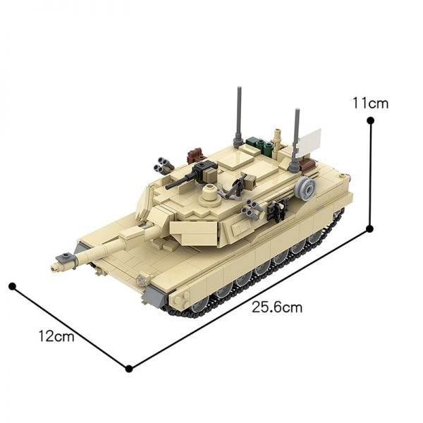 MOC 36237 M1A2 Abrams Tank w interior Military by TOPACES MOC FACTORY 6 - MOC FACTORY