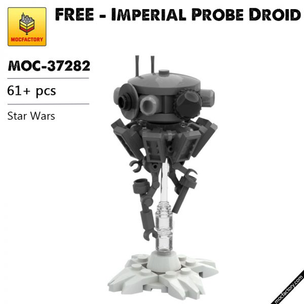MOC 37282 FREE Imperial Probe Droid Star Wars by ClydeChestnut MOC FACTORY - MOC FACTORY