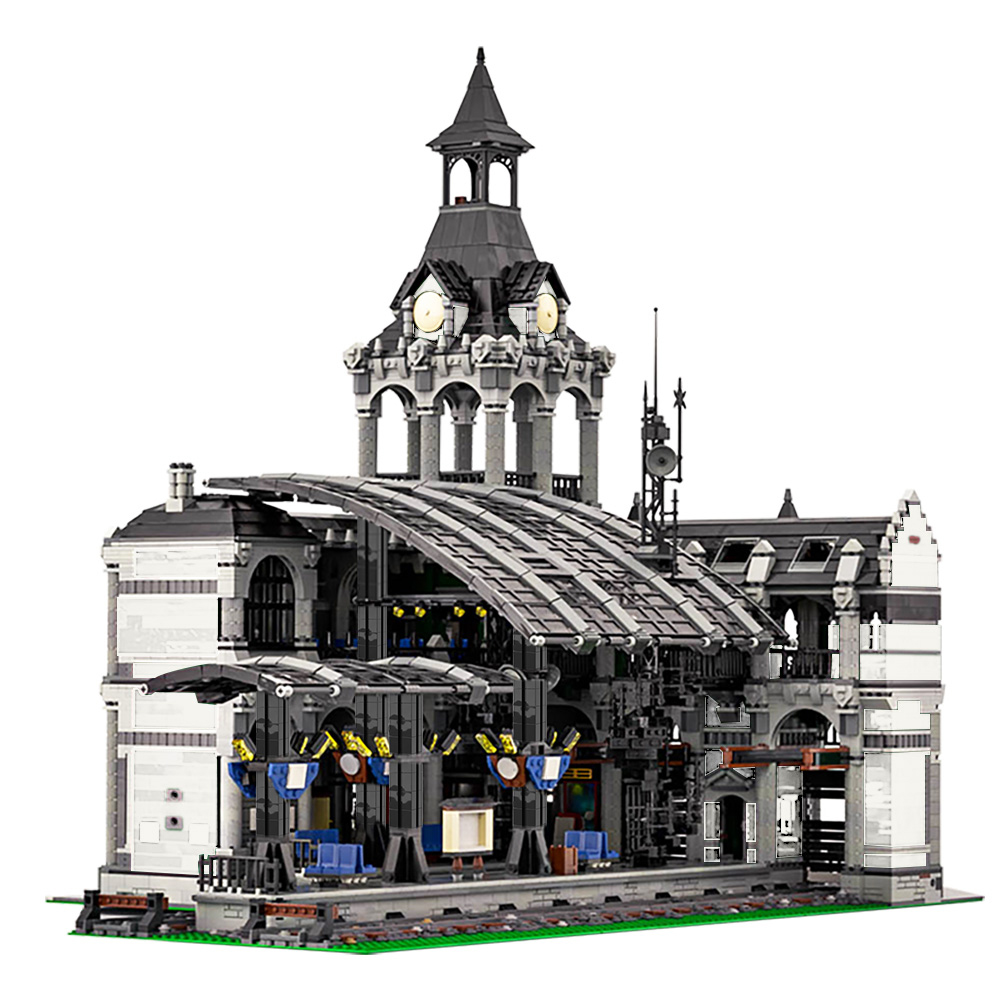 MOC 37719 Modular Train Station Modular Building by Das Felixle MOC FACTORY 11 1 - MOC FACTORY