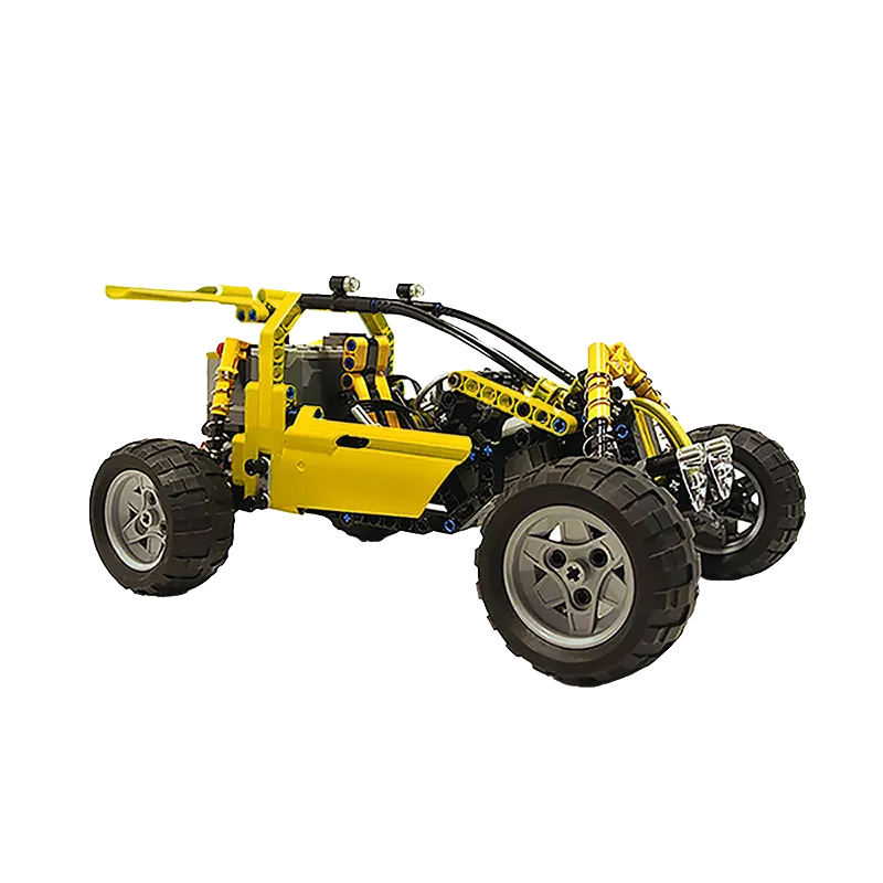 MOC 3929 Lime Buggy Technic by Proto MOC FACTORY 2 - MOC FACTORY
