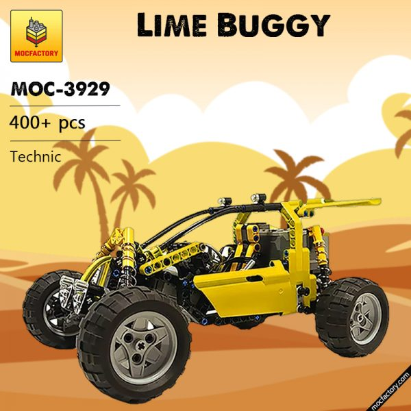 MOC 3929 Lime Buggy Technic by Proto MOC FACTORY - MOC FACTORY