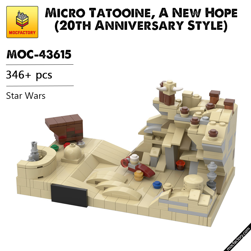 MOC 43615 Micro Tatooine A New Hope 20th Anniversary Style Star Wars by Brick a Brack MOC FACTORY 2 - MOC FACTORY