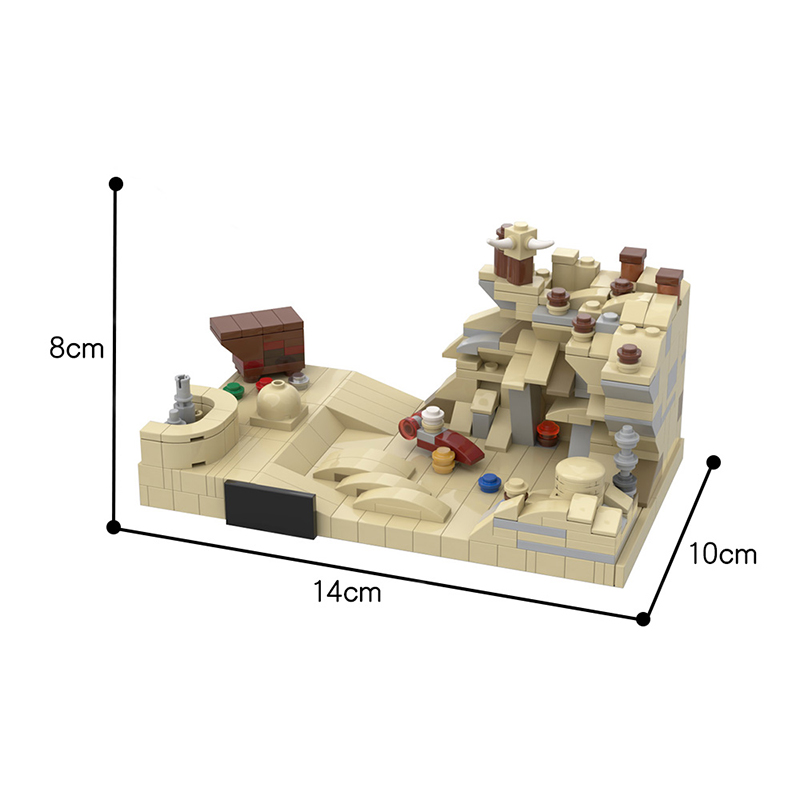 MOC 43615 Micro Tatooine A New Hope 20th Anniversary Style Star Wars by Brick a Brack MOC FACTORY 3 - MOC FACTORY