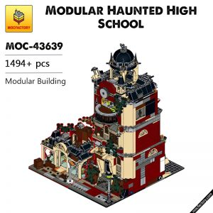 MOC 43639 Modular Haunted High School Modular Building by underthebricks MOC FACTORY - MOC FACTORY