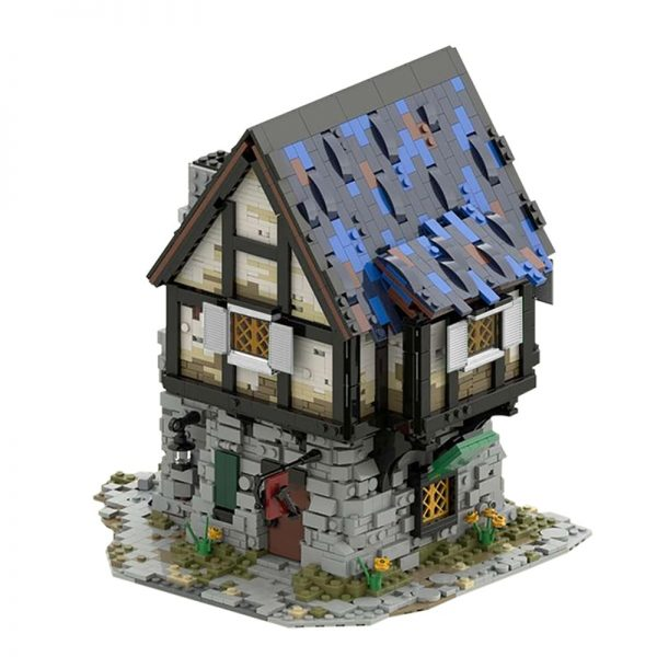 MOC 44070 The Medieval Smithy Modular Building by povladimir MOC FACTORY 2 - MOC FACTORY