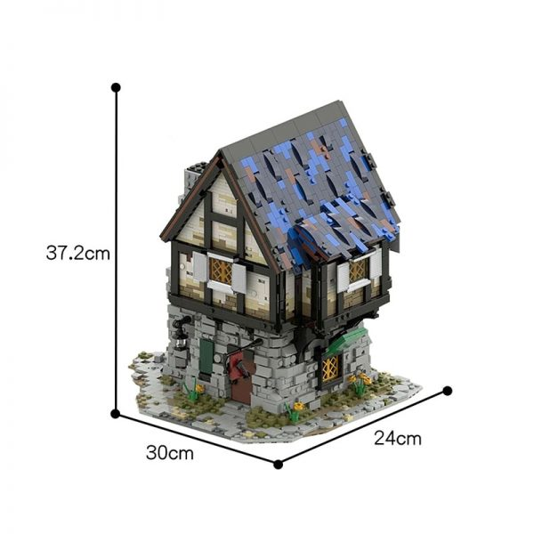 MOC 44070 The Medieval Smithy Modular Building by povladimir MOC FACTORY 3 - MOC FACTORY