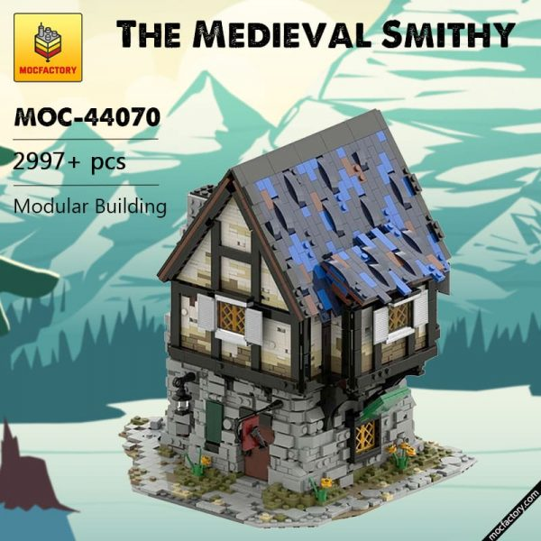 MOC 44070 The Medieval Smithy Modular Building by povladimir MOC FACTORY - MOC FACTORY