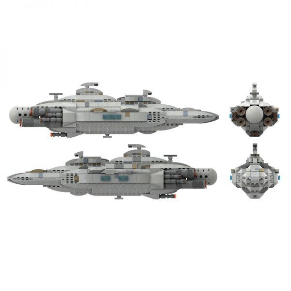 MOC 44432 Mon Calamari MC80 Home One type Star Cruiser Star Wars by Red5 Leader MOC FACTORY 4 - MOC FACTORY