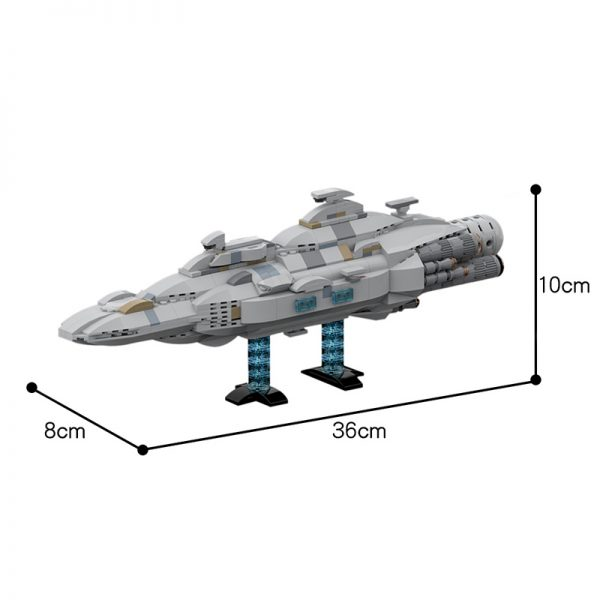 MOC 44432 Mon Calamari MC80 Home One type Star Cruiser Star Wars by Red5 Leader MOC FACTORY 5 - MOC FACTORY