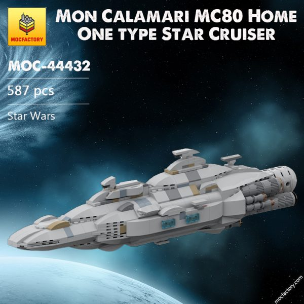 MOC 44432 Mon Calamari MC80 Home One type Star Cruiser Star Wars by Red5 Leader MOC FACTORY - MOC FACTORY