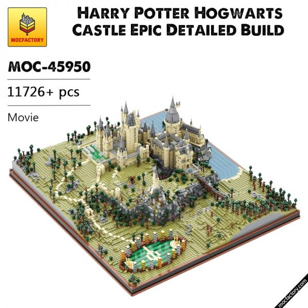 MOC 45950 Harry Potter Hogwarts Castle Epic Detailed Build Movie by citizenfive MOC FACTORY - MOC FACTORY