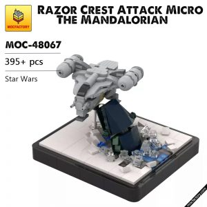 MOC 48067 Razor Crest Attack Micro The Mandalorian Star Wars by 6211 MOC FACTORY - MOC FACTORY