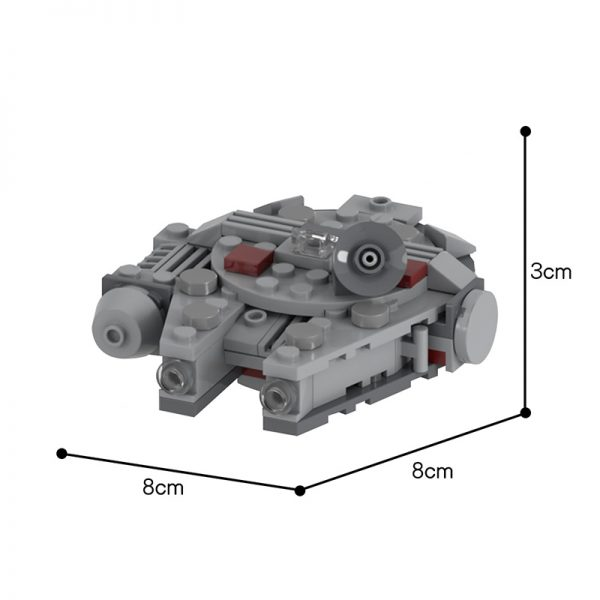 MOC 48537 Movie Accurate Millennium Falcon Microfighter Star Wars by UnlocktheBrick MOC FACTORY 2 - MOC FACTORY