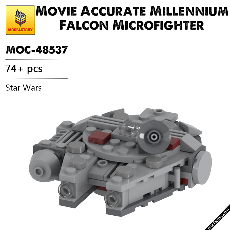 MOC 48537 Movie Accurate Millennium Falcon Microfighter Star Wars by UnlocktheBrick MOC FACTORY - MOC FACTORY
