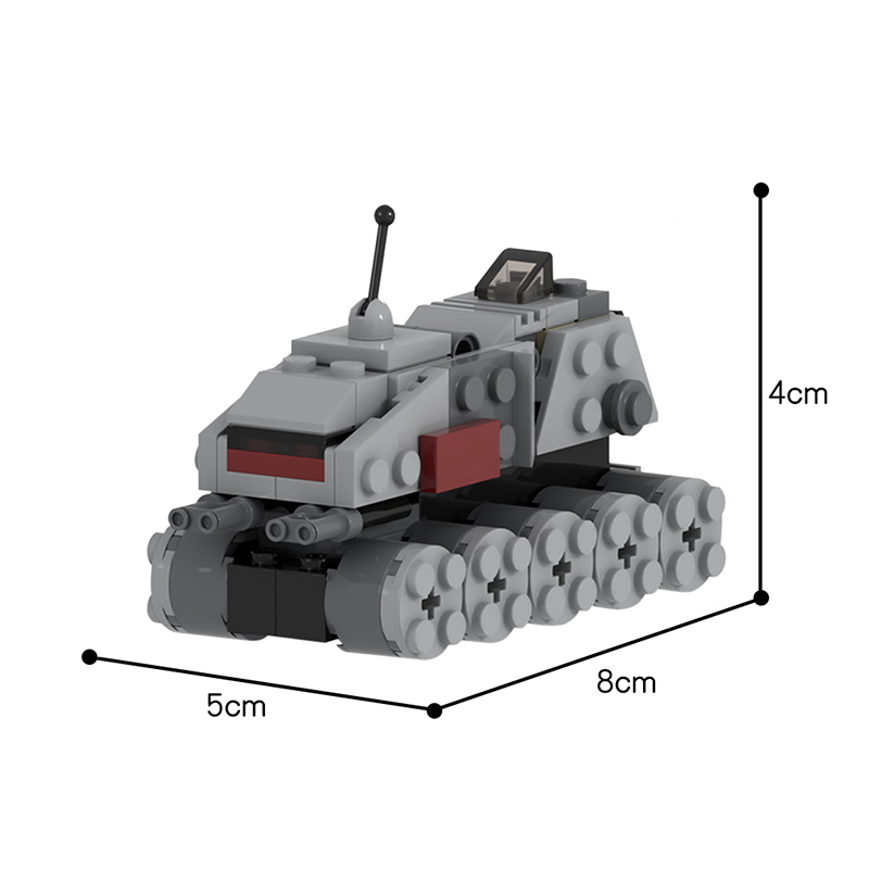 MOC 48717 Movie Accurate Clone Turbo Tank Microfighter Star Wars by UnlocktheBrick MOC FACTORY 2 - MOC FACTORY