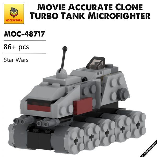 MOC 48717 Movie Accurate Clone Turbo Tank Microfighter Star Wars by UnlocktheBrick MOC FACTORY - MOC FACTORY
