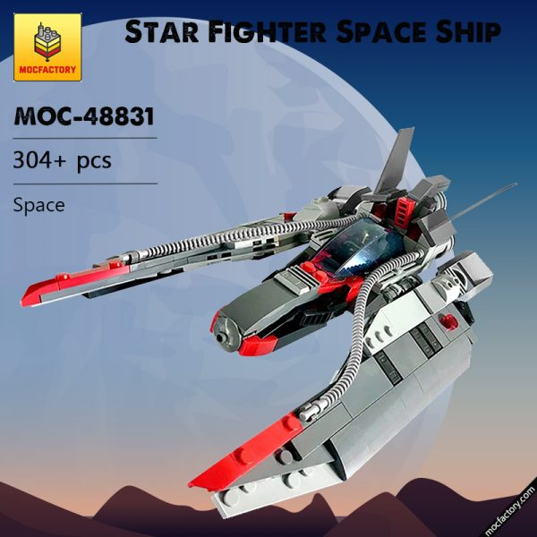 MOC 48831 Star Fighter Space Ship Space by MadMocs MOC FACTORY - MOC FACTORY
