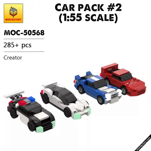 MOC 50568 Car pack 2 155 scale Creator by Mobilbenja FACTORY - MOC FACTORY