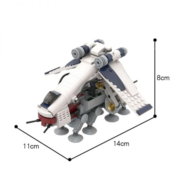 MOC 51483 Republic Dropship AT OT Midi Episode II The Clone Wars Star Wars by 6211 MOC FACTORY 5 - MOC FACTORY