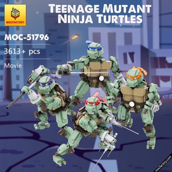 MOC 51796 TMNT Teenage Mutant Ninja Turtles Movie by Allouryuen MOC FACTORY - MOC FACTORY