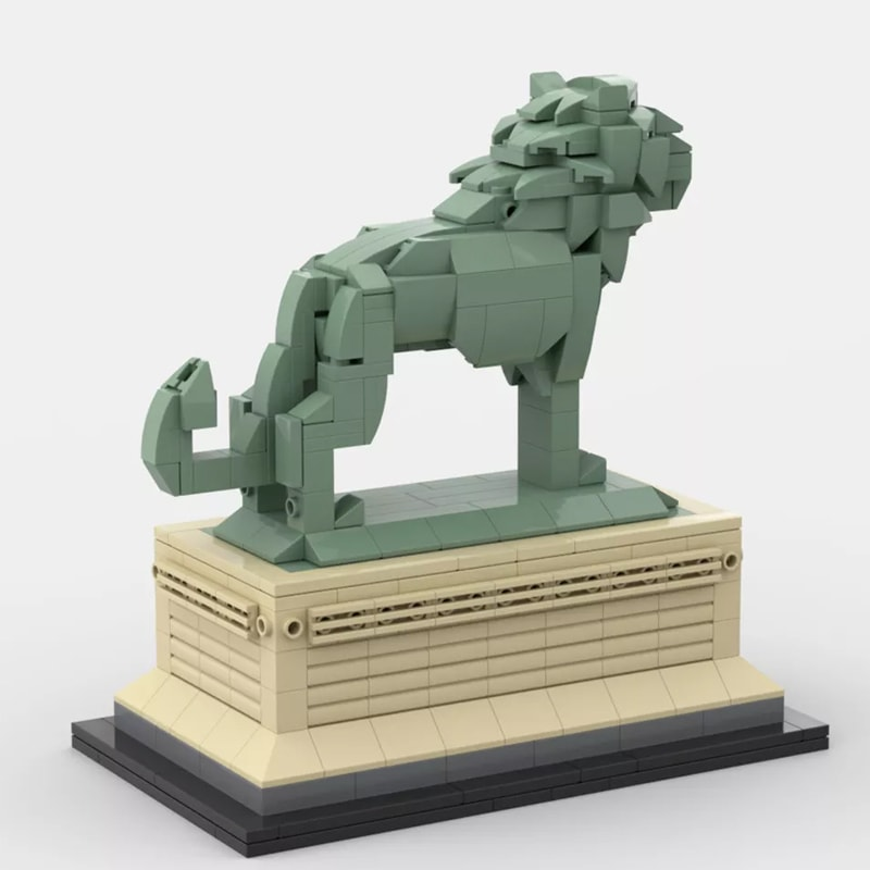 MOC 53134 Art Institute Lion Creator by bric 3 1 - MOC FACTORY