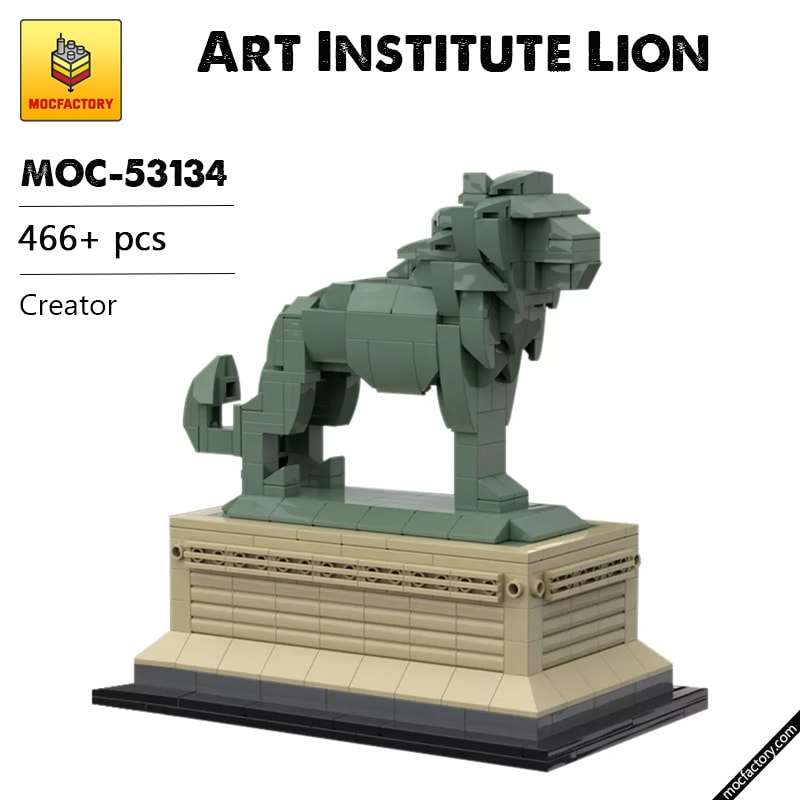MOC 53134 Art Institute Lion Creator by bric.ole MOC FACTORY 1 - MOC FACTORY