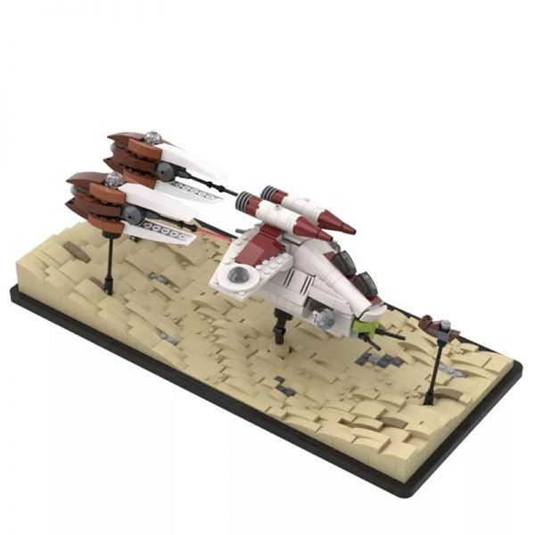 MOC 53491 Dooku Escape Speeder Chase Micro LAAT Geonosian Fighter Episode II Star Wars by 6211 MOC FACTORY 2 - MOC FACTORY