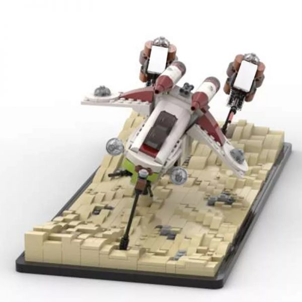 MOC 53491 Dooku Escape Speeder Chase Micro LAAT Geonosian Fighter Episode II Star Wars by 6211 MOC FACTORY 3 - MOC FACTORY