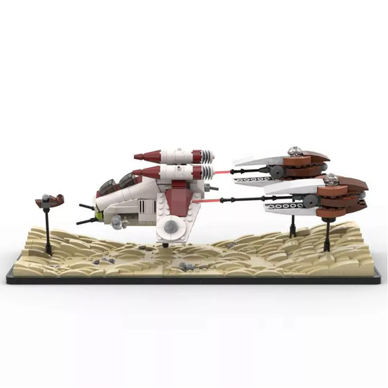 MOC 53491 Dooku Escape Speeder Chase Micro LAAT Geonosian Fighter Episode II Star Wars by 6211 MOC FACTORY 4 - MOC FACTORY