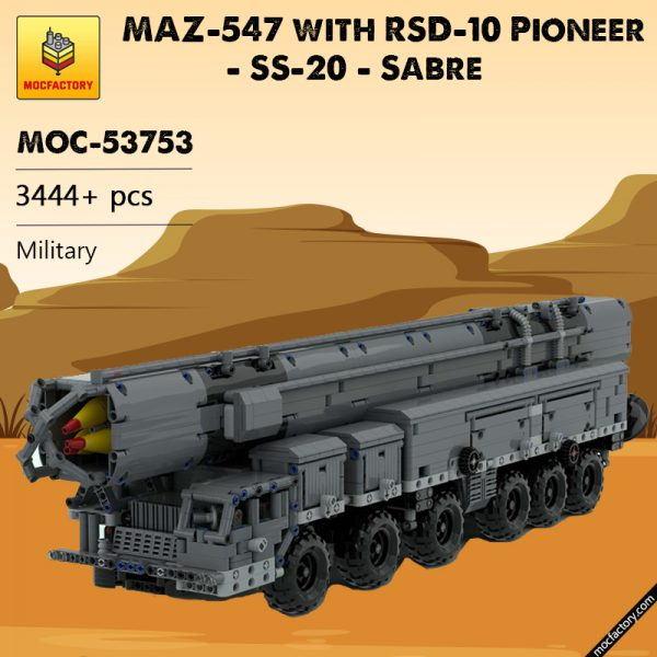 MOC 53753 MAZ 547 with RSD 10 Pioneer SS 20 Sabre Military by zz0025 MOC FACTORY - MOC FACTORY