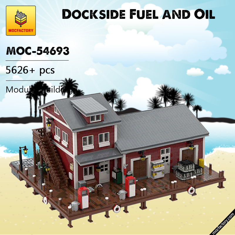 MOC 54693 Dockside Fuel and Oil Modular Building by jepaz MOC FACTORY - MOC FACTORY