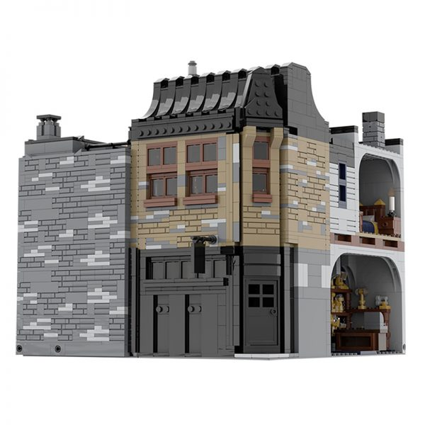 MOC 55035 Leaky Cauldron Wiseacres Wizarding Equipment Diagon Alley Movie by JL 3 - MOC FACTORY