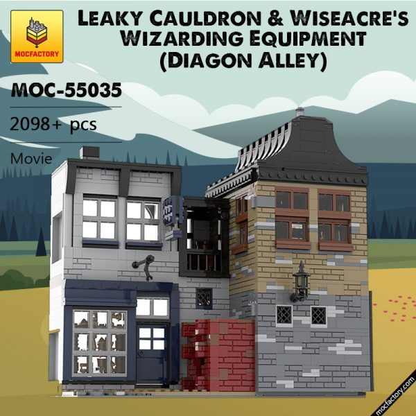 MOC 55035 Leaky Cauldron Wiseacres Wizarding Equipment Diagon Alley Movie by JL.Bricks MOC FACTORY - MOC FACTORY