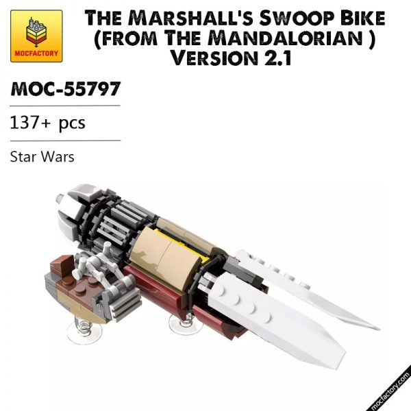 MOC 55797 The Marshalls Swoop Bike from The Mandalorian Version 2.1 Star Wars by thomin MOC FACTORY 1 - MOC FACTORY