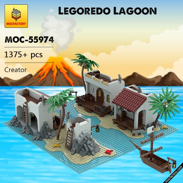 MOC 55974 Legoredo Lagoon Creator by This One Brick MOC FACTORY - MOC FACTORY