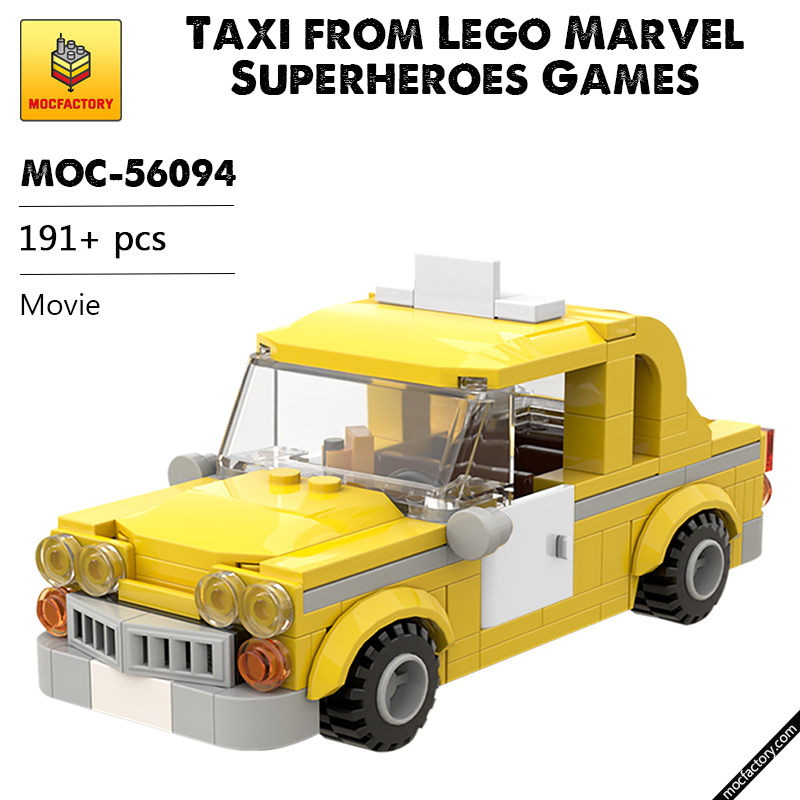 MOC 56094 Taxi from Lego Marvel Superheroes Games Movie by Velandar MOC FACTORY - MOC FACTORY