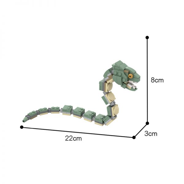 MOC 56644 Harry Potter Minifigure Scale Basilisk Movie by 2bricksofficial MOC FACTORY 2 - MOC FACTORY