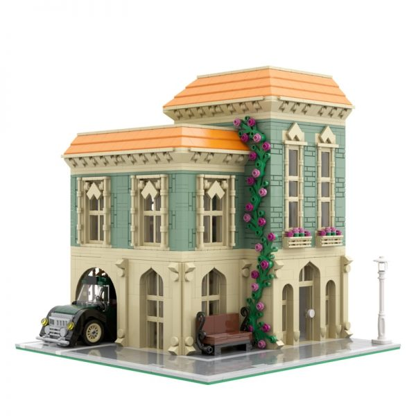 MOC 57981 Modular Post Office Delivery Car Modular Building by MOCExpert MOC FACTORY 2 - MOC FACTORY