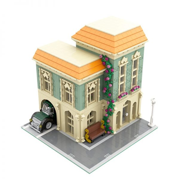 MOC 57981 Modular Post Office Delivery Car Modular Building by MOCExpert MOC FACTORY 3 - MOC FACTORY