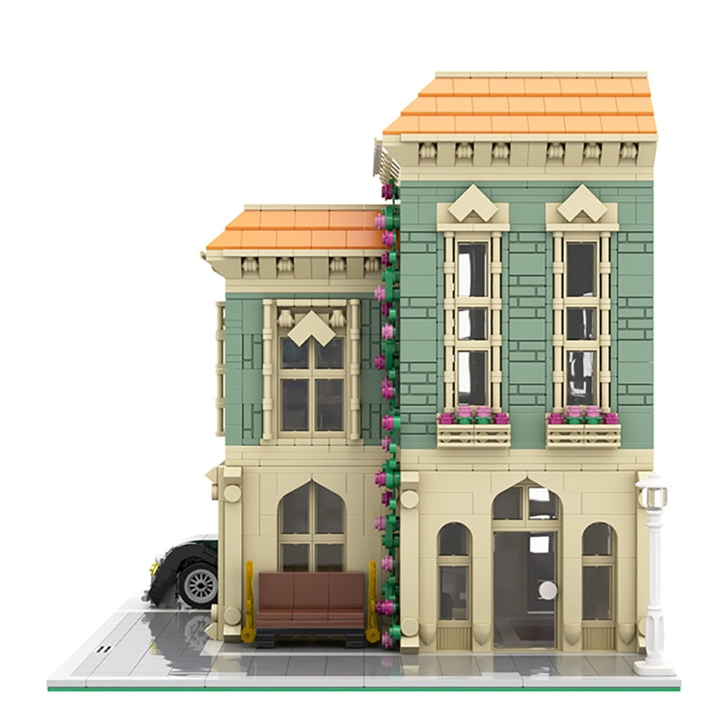 MOC 57981 Modular Post Office Delivery Car Modular Building by MOCExpert MOC FACTORY 5 - MOC FACTORY