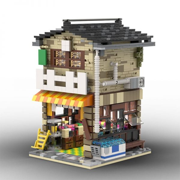MOC 58773 Japanese Stores Modular Building by povladimir MOC FACTORY 3 - MOC FACTORY