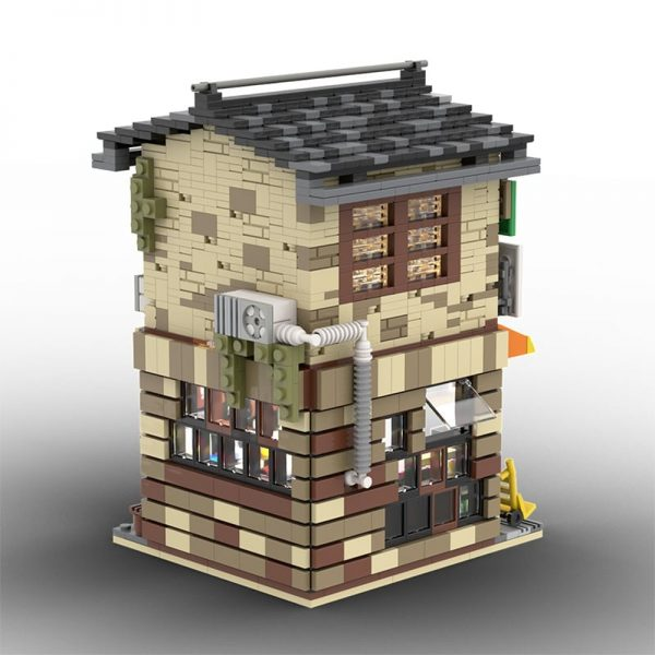 MOC 58773 Japanese Stores Modular Building by povladimir MOC FACTORY 5 - MOC FACTORY