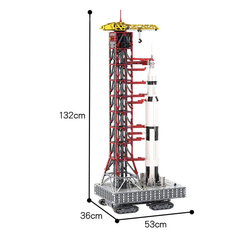MOC 60088 Launch Tower Mk I for Saturn V 2130992176 with Crawler Space by Janotechnic MOC FACTORY 7 - MOC FACTORY